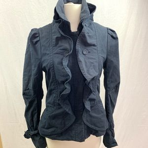 Bcbg MAXAZRIA short trench coat blue size small